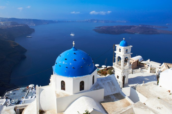 Greece, Cyclades, Santorini, Firostefani